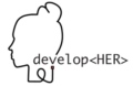 developHER Logo Tech für Frauen - women in tech